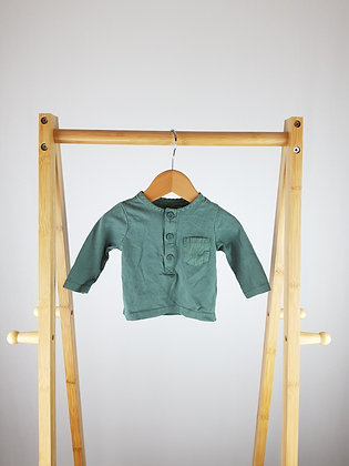 TU khaki buttoned long sleeve top up to 1 month