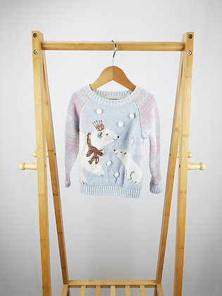 F&F polar bear knitted jumper 18-24 months