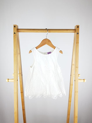 F&F white embroidered lace blouse 12-18 months