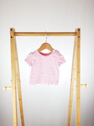 Early days pink floral t-shirt 0-3 months