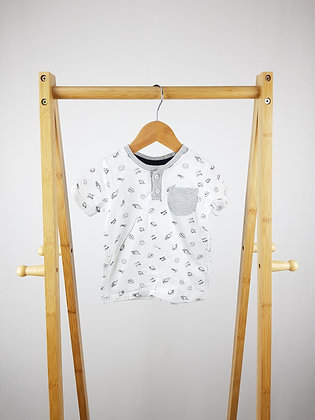 George buttoned space t-shirt 9-12 months