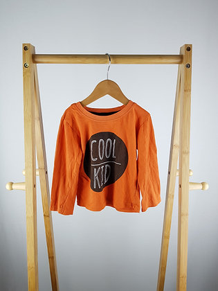Primark orange long sleeve top 2-3 years