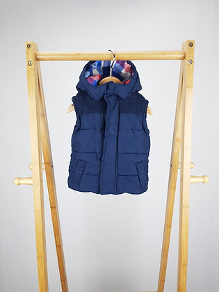 F&F navy padded vest with hood 6-9 months