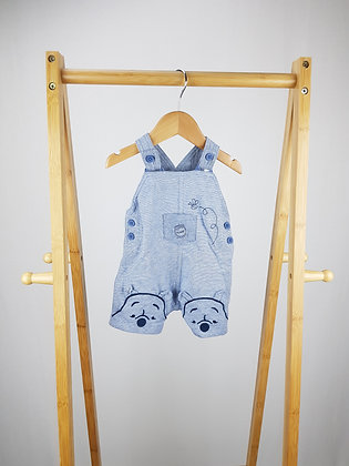 Disney at George Winnie the Pooh short dungarees 0-3 months