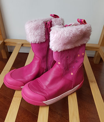 Clarks pink boots 7.5F
