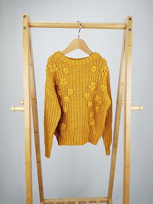 Matalan  mustard knitted jumper 6 years