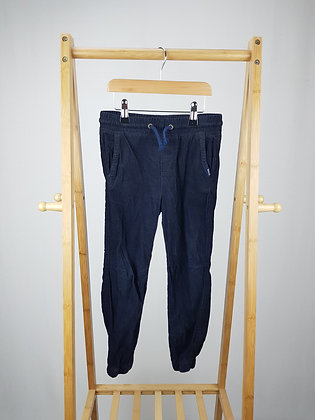 H&M navy corduroy cuffed trousers 6-7 years