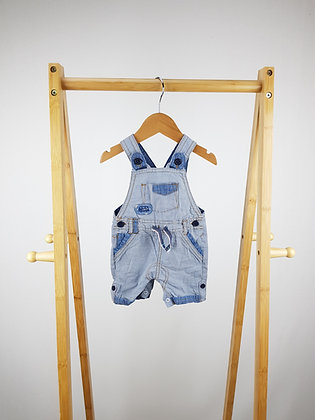 George short striped dungarees 0-3 months
