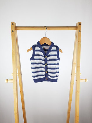 George striped knitted vest 3-6 months