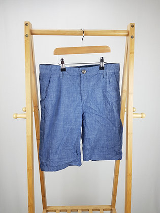 H&M blue denim look shorts 12-13 years
