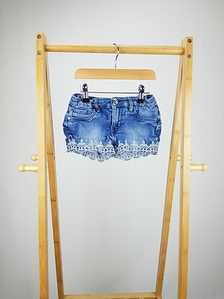 H&M embroidered denim shorts 7-8 years