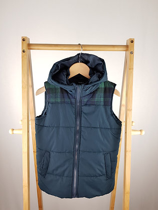 Pep&Co navy padded vest 9-10 years