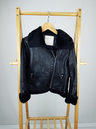 Matalan leather jacket with faux fur trim 11 years