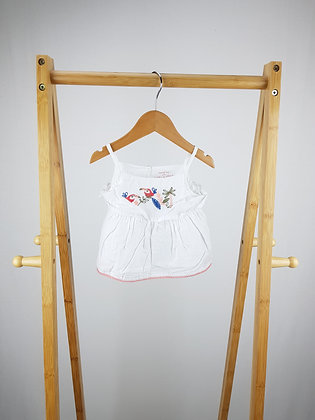 F&F embroidered top 3-6 months