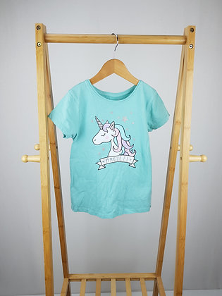 Primark unicorn t-shirt 7- 8 years