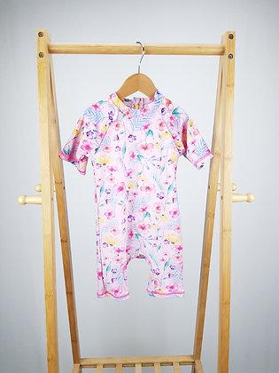 Matalan pink floral swimsuit 18-23 months
