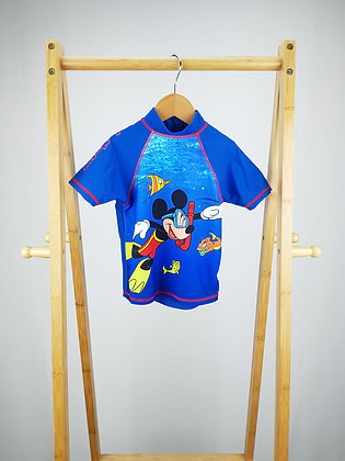 George Disney Mickey Mouse swimming top 2-3 years