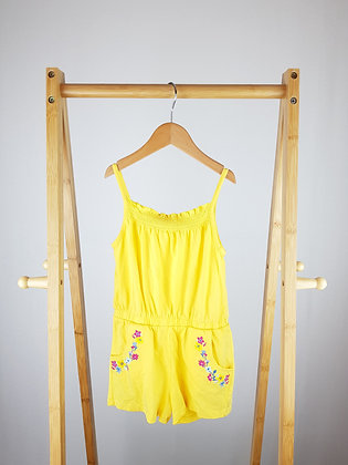 F&F embroidered yellow playsuit 4-5 years