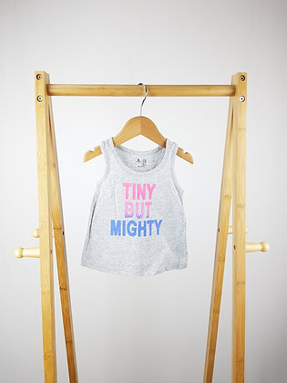GAP tiny but mighty vest top 12-18 months