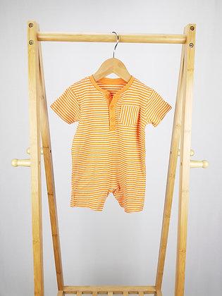 George orange striped romper 6-9 months