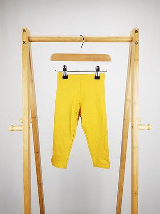 F&F yellow leggings 12-18 months