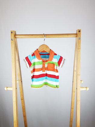 Matalan striped polo shirt newborn