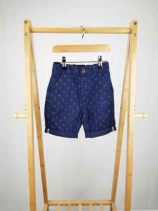 George palm print chino shorts 4-5 years