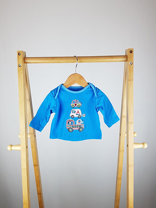 TU blue long sleeve top up to 1 month