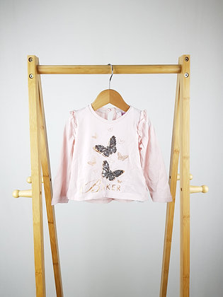 Ted Baker sequin butterfly long sleeve top 12-18 months
