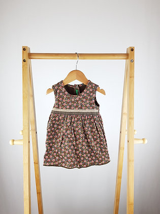 United colors of Benetton floral cord dress 3-6 months
