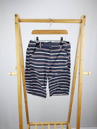 M&Co striped shorts 6-7 years