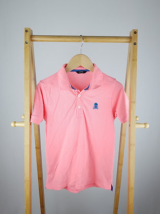 George pink skull polo shirt 9-10 years