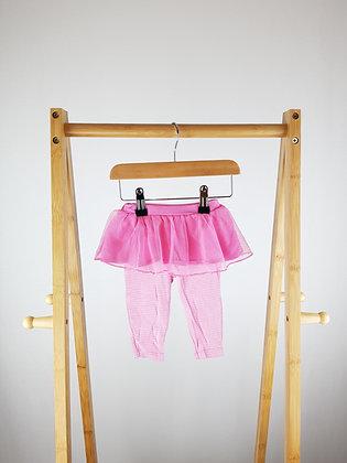 Carters pink tutu leggings 3-6 months