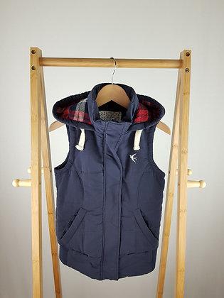 Generation navy padded vest 10-11 years