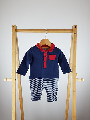 Mamas&Papas navy polo all-in-one 3 months