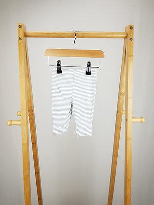 Matalan striped leggings 3-6 months
