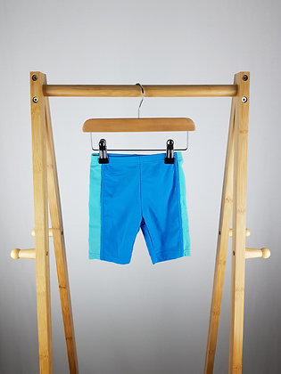 Adams blue swimming trunks 12-18 months