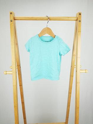 F&F blue t-shirt 6-9 months