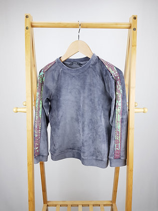 George velour sequin detail sweater 8-9 years