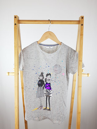 M&S sequin t-shirt 11-12 years