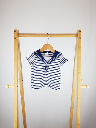H&M nautical t-shirt 2-4 months
