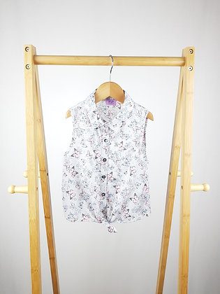 F&F butterfly sleeve less blouse 6-7 years