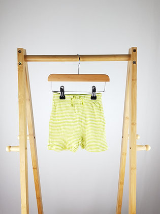 George striped shorts 9-12 months