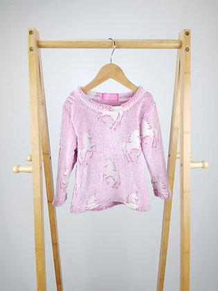 Glow in the dark pink unicorn jumper 2-3 years