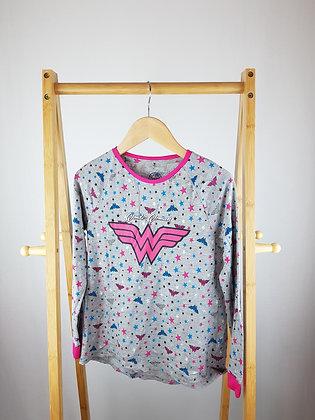 George Wonder woman long sleeve pyjama top 10-11 years