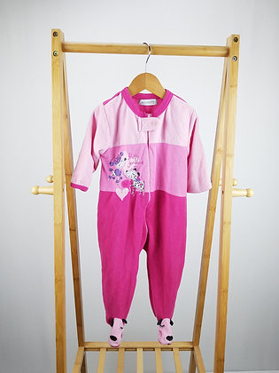 Early days pink fleece sleepsuit 12-18 months