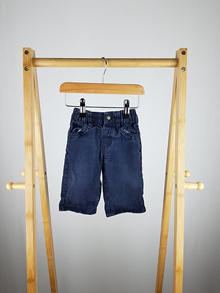 Bambini navy denim trousers 3-6 months