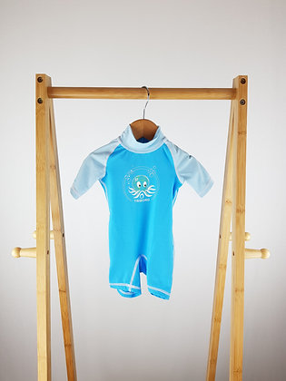 Oxylane blue swimsuit 9-12 months