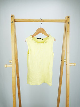 George yellow ribbed vest top 6-7 years