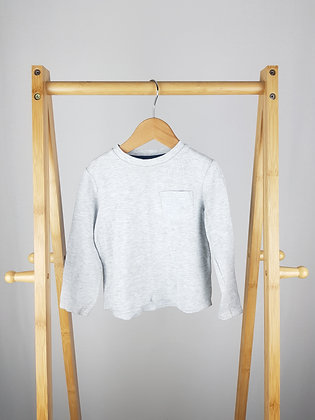 F&F grey long sleeve top 18-24 months
